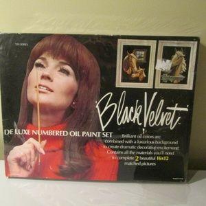 ~ Black Velvet Horses Numbered Oil Painting Kit ~